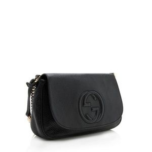 Gucci Bags - Gucci Soho Chain Strap Black Leather Crossbody Bag